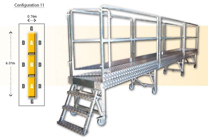 Rolling modular platform - configuration 11