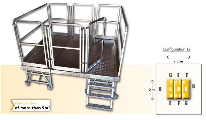 Rolling modular platform - configuration 12