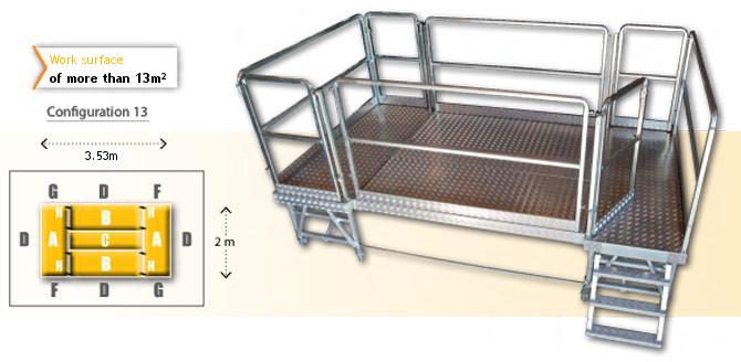 Rolling modular platform - configuration 13