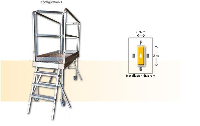 Rolling modular platform- configuration 1