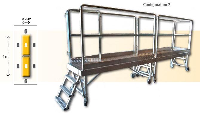 Rolling modular platform - Configuration 2