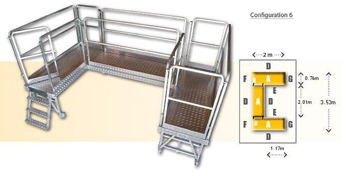 Rolling modular platform - configuration 6