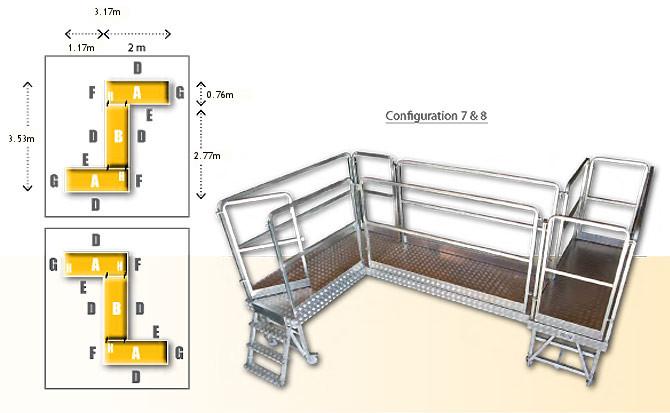Rolling modular platforme - configuration 7 & 8